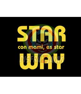 Vinilo Texti Star con Mami es star Way 15x15
