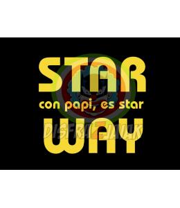 Vinilo Texti Star con Papi es star Way 15x15
