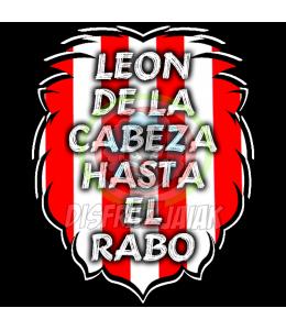 Vinilo Texti Zurigorri Leon de la cabeza... 6x6