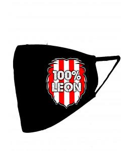 Mascarilla negra Leon Zurigorri 100% Leon (Homologada)