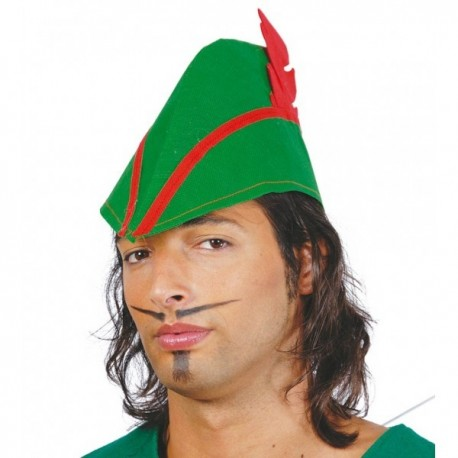 Sombrero Robin Hood de tela