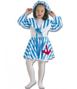 Disfraz de Bañista Azul Niña