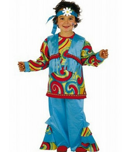 Disfraz de Hippie Azul Sicodelia Niño