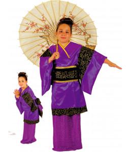 Disfraz de Geisha con Sombrilla Niña