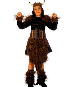 Disfraz de Vikinga Barbara Niña