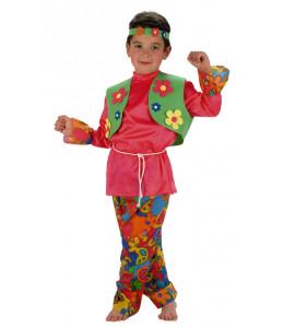 Disfraz de Hippie Rosa Niño