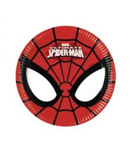 Platos Spiderman 8 unidades 20 cm