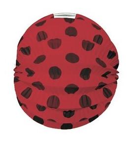 Farol Esferico Rojo Lunar Negro