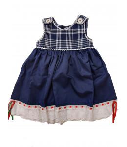 Vestido Tirantes Mahon Cuadros para Bebe