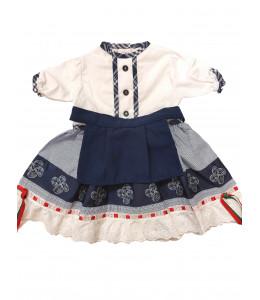 Vestido Mil Rayas con Delantal Bebe