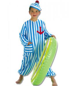 Disfraz de Bañista Azul Niño