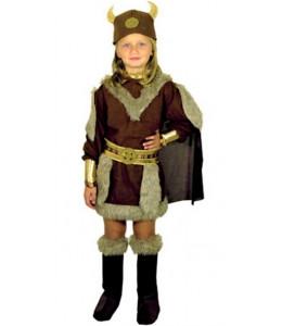 Disfraz de Vikinga Niña