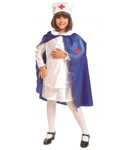 Disfraz de Enfermera Azul Niña