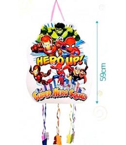 Piñata de Superheroes con Tiras