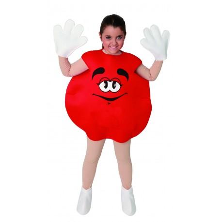Disfraz de Dulce Rojo infantil