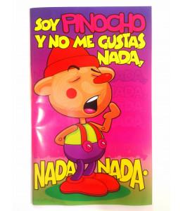 Tarjeta Soy Pinocho y No me Gustas Nada