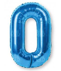 Globo Numero Azul 0 de Foil