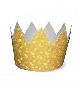 Corona Oro Holografica 6 unid