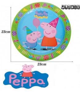 Platos Peppa Pig 23cm 6 Unid