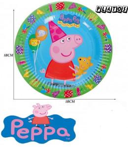 Platos Peppa Pig 18cm 6 Unid