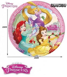 Platos Princesas Disney 23cm 6 Unid