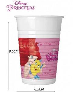 Vasos Princesas Disney 8 unid