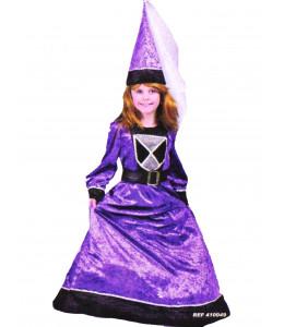 Disfraz de Dama Medieval Morada Niña