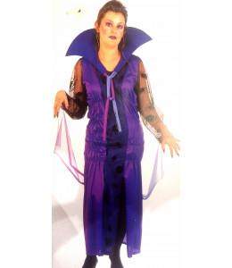 Disfraz de Vampiresa Morada Mujer