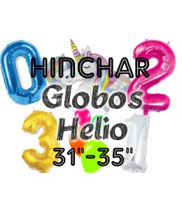 "Hinchado Helio 31""-35"" Globo Metalizado"