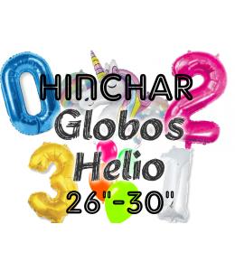 "Hinchado Helio 26""-30"" Globo Metalizado"