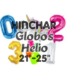 "Hinchado Helio 21""-25"" Globo Metalizado"