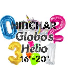 "Hinchado Helio 16""-20"" Globo Metalizado"