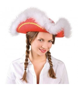Sombrero Tres Picos Rojos