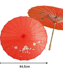 Sombrilla de Geisha Roja