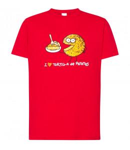 Camiseta Kukuxumusu I Love Tortilla