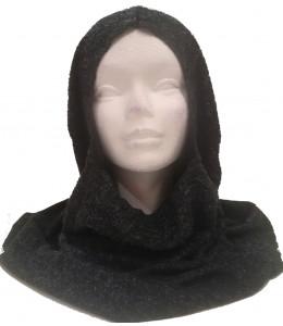 Capucha Medieval Negra