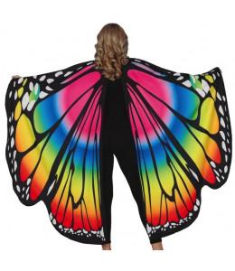 Alas de Mariposa Multicolor de Tela