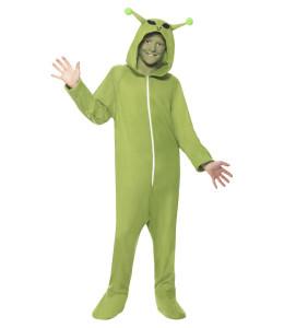 Disfraz de Alien Verde Pijama Infantil