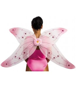 Alas de Mariposa Rosas