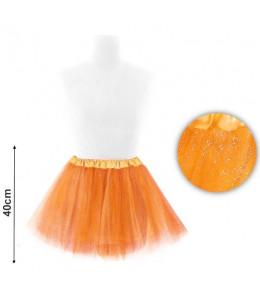 Tutu Purpurina Naranja 40cm