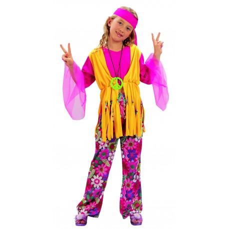 Disfraz de Hippie Chica Infantil