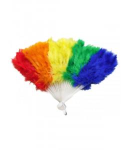 Abanico Pluma Multicolor