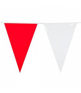Banderines Triangulares Rojo y Blanco 10M