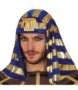 Tocado Faraon Azul y Dorado