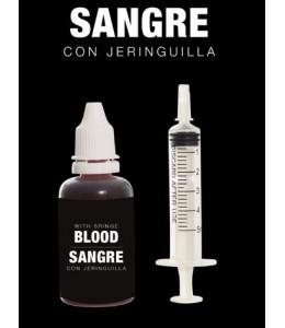Sangre con jeringa