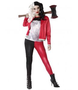 Dsfraz de Chica Joker Rojo y Negro