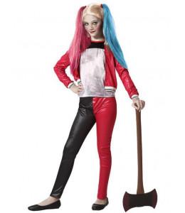 Dsfraz de Chica Joker Rojo y Negro Infantil
