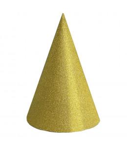Gorro Cono Purpurina Oro