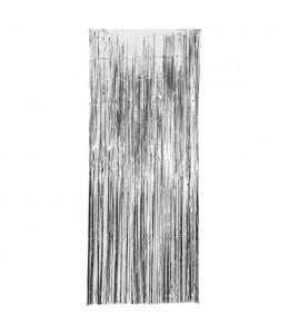 Cortina de Flecos Plateada 1x2,4m