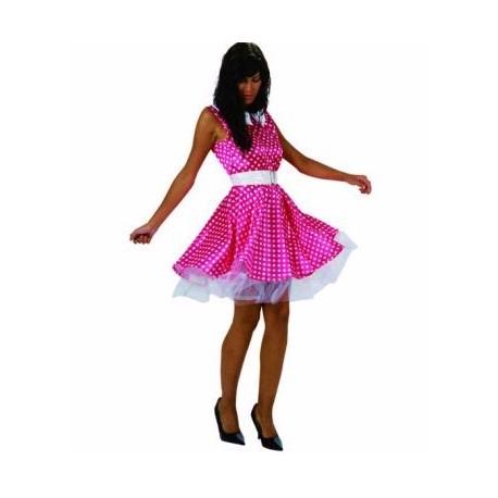 Disfraz de Años 50 Rosa